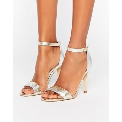 Terry de Havilland Zig Barely There Leather Heeled Sandals